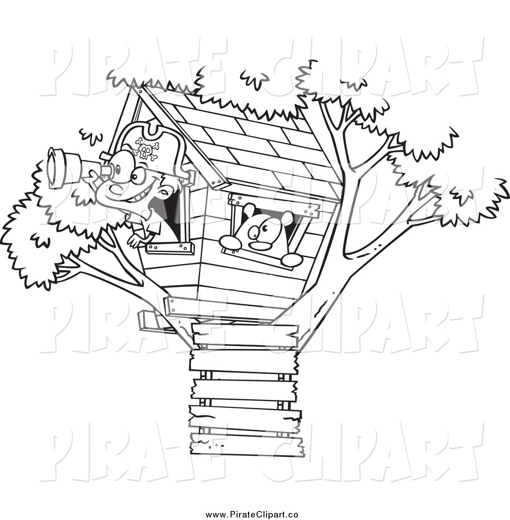 Treetop Clubhouse Clipart