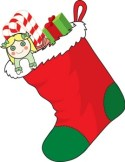 Image result for clipart of christmas toys and stockings