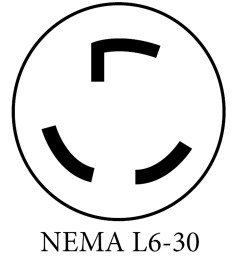 nema 6 50 50a plug this is common for welders or plasma cutters it s installed onto a dedicated 50a circuit to match the rating of the plug  [ 3300 x 3845 Pixel ]