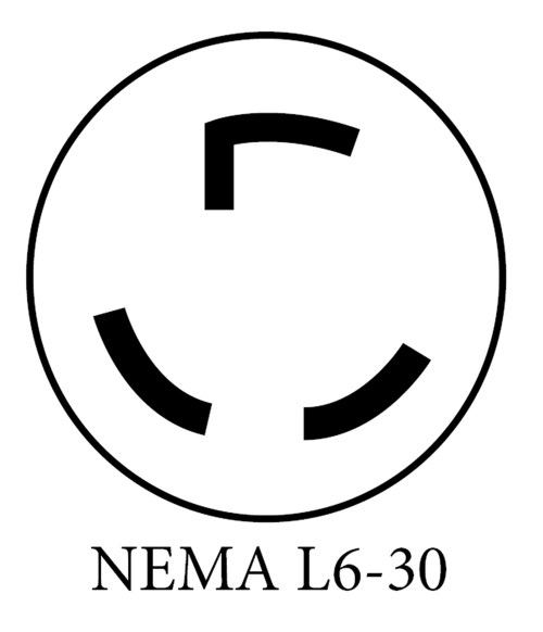 small resolution of nema 6 50 50a plug this is common for welders or plasma cutters it s installed onto a dedicated 50a circuit to match the rating of the plug