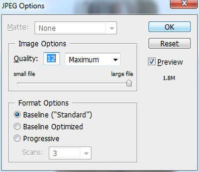 Save your file as jpeg