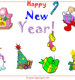 merry christmas and happy new year free clipart wallpaper 1600x1200 px  [ 1600 x 1200 Pixel ]