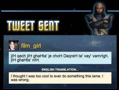 klingontweet