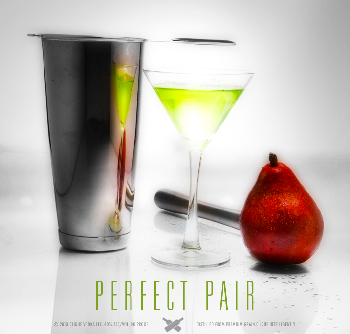 """The """"Perfect Pair"""" Martini! : Clique Vodka"""