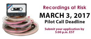Recordings at Risk Deadline