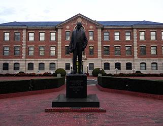 James E. Shepard statue