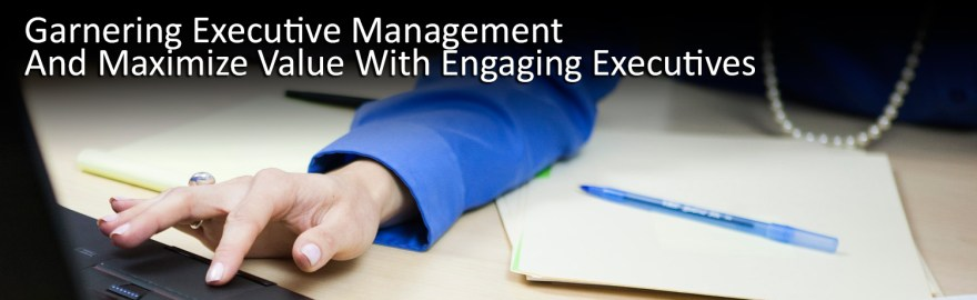Garnering Executive Management And Maximize Value With Engaging Executives