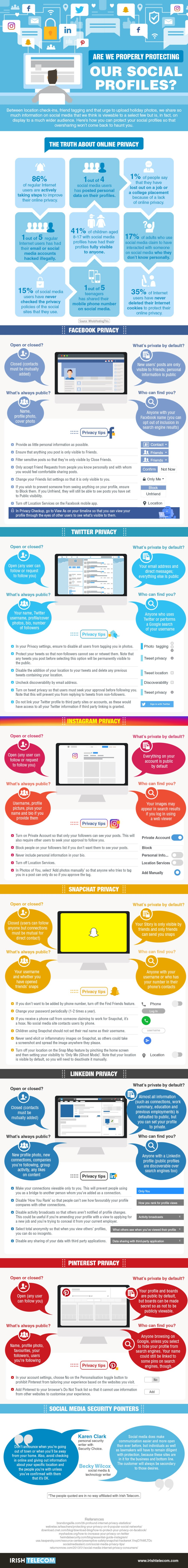 Social Media Infographic - Protect Your Privacy