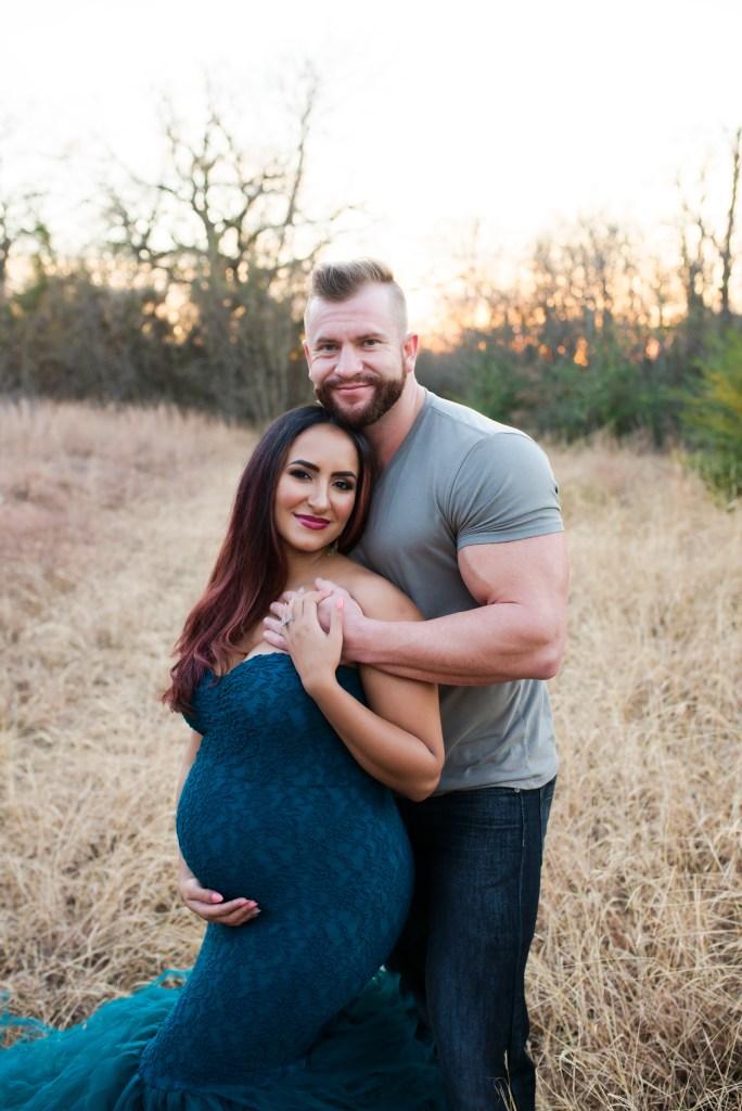 Dallas Studio Pregnancy Portrait CLJ Photography