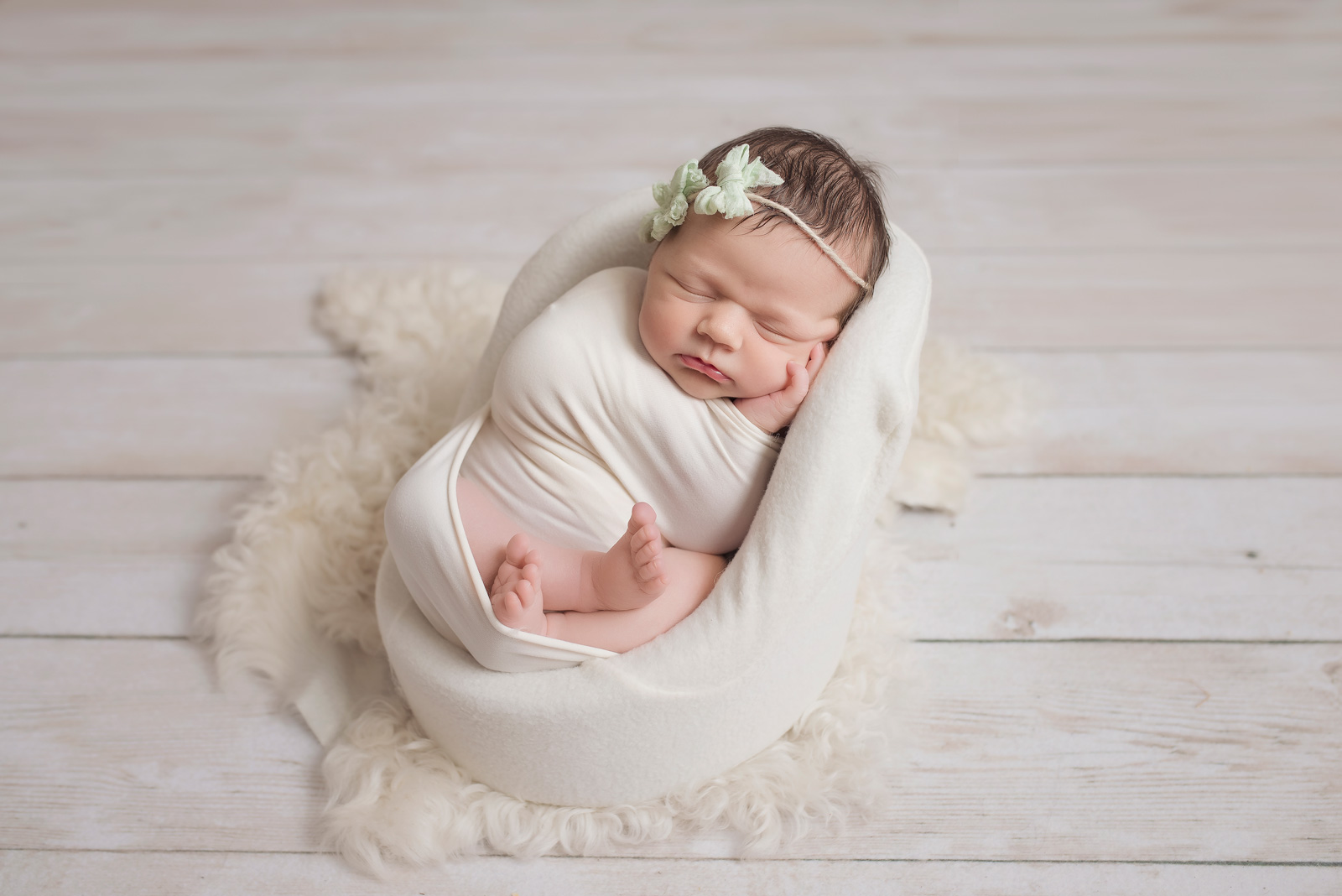 Baby Girl Studio Newborn Photo Shoot in Frisco TX CLJ Photography