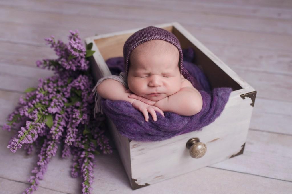 Flower Baby Girl Photo Studio Dallas Newborn Photo Studio CLJ Photography