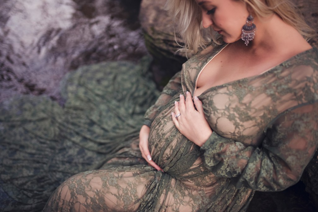 Studio Nude Maternity Shoot in Flower Mound TX CLJ Photography