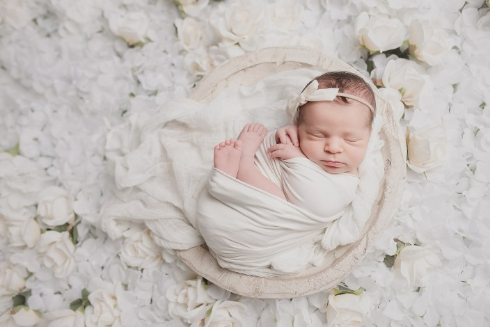 baby girl flowers newborn photographer girly newborn photo shoot dallas photographer CLJ Photography