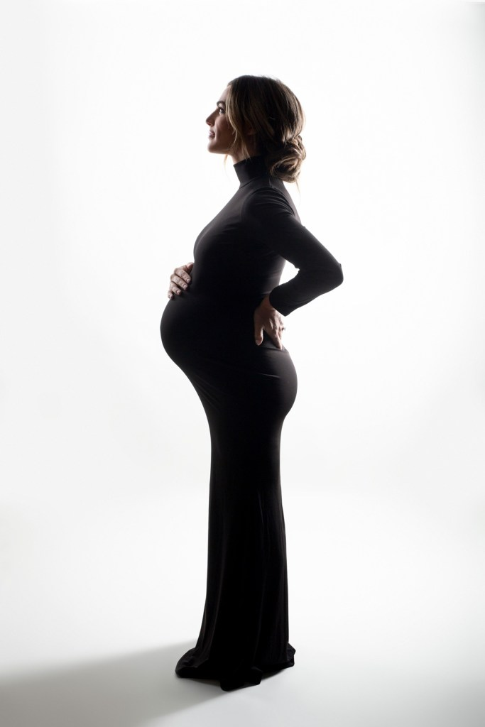 Sophisticated Maternity Shoot, Dallas Studio Maternity Photo Shoot CLJ Photography