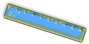 blue and yellow ruler clip art