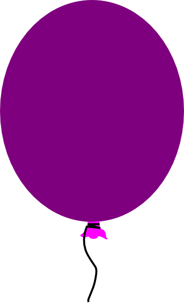 purple balloon clip art
