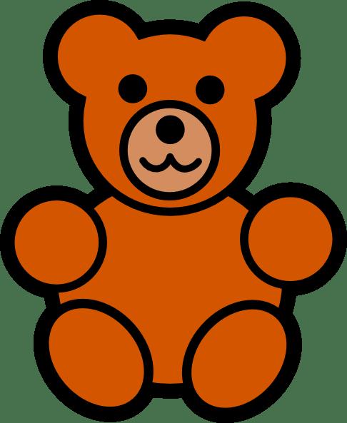 bear clip art - vector