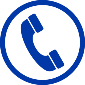 blue phone clip art
