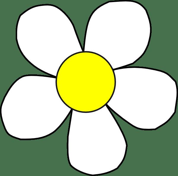 white yellow daisy clip art