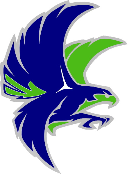 Woodinville Falcon  Grey Outlinenavy Clip Art at Clker