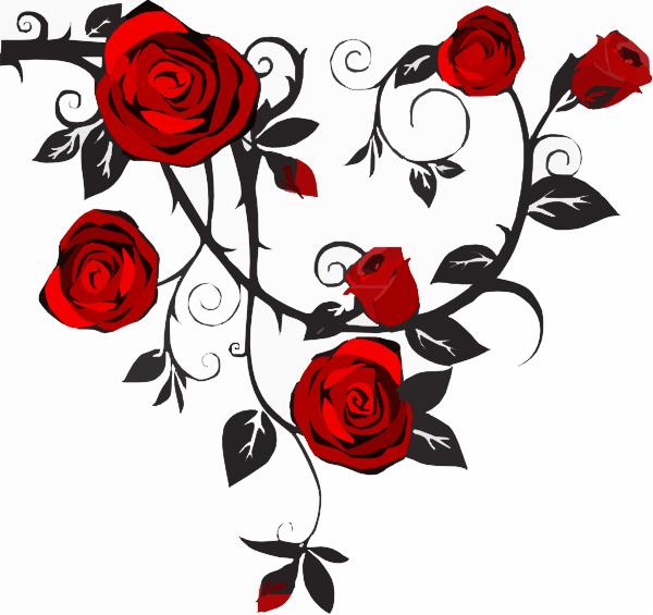 rose clip art - vector