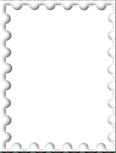 Blank Postage Stamp Template Kb Clip Art at Clker.com