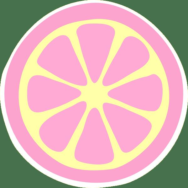 pinky lemonade slice clip art