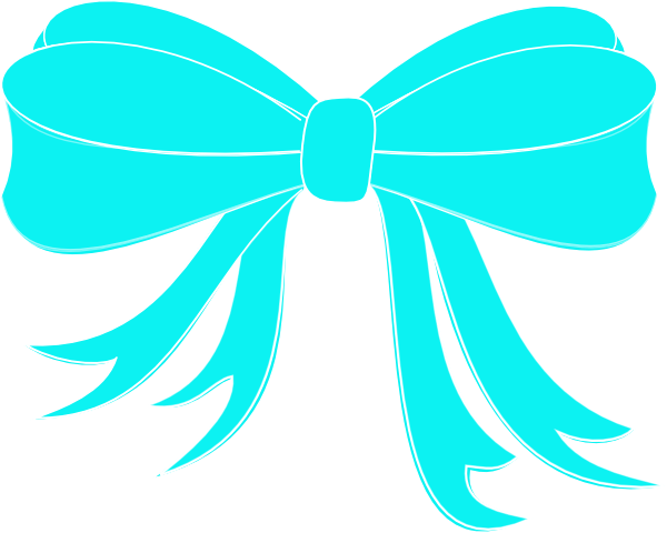 turquoise bow ribbon clip art