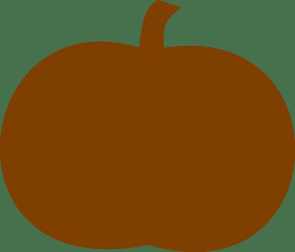 dark orange pumpkin clip art