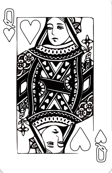Queen Of Hearts Coloring Page Clip Art at Clker.com