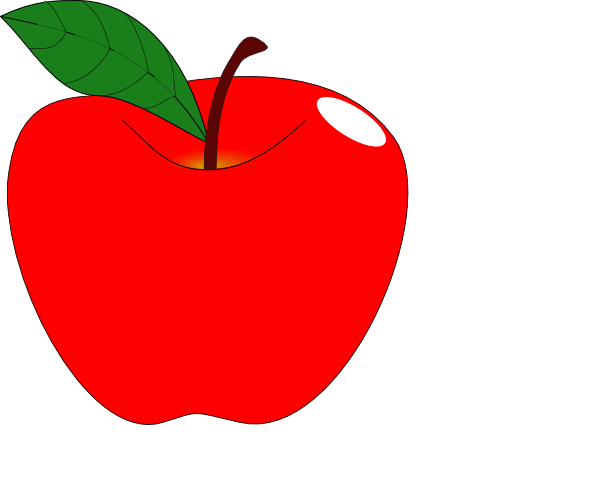 red apple 1 clip art