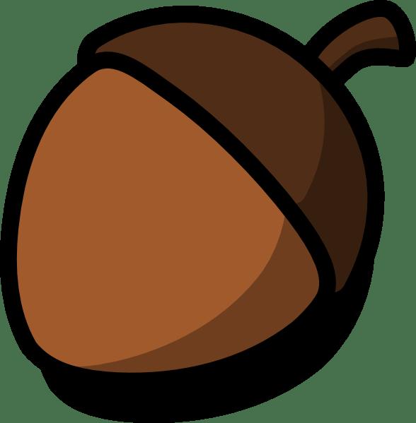 acorn clip art - vector