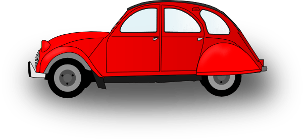 Gambar Orange Car Clip Art Clker Vector Online Royalty