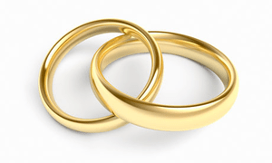 Gold Wedding Rings  Free Images at Clkercom  vector