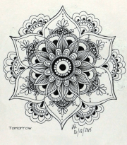 mandala flower sketch free