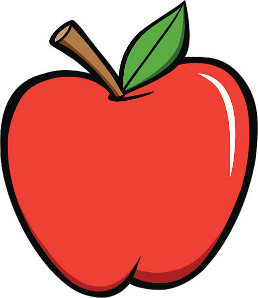 free school apple clipart