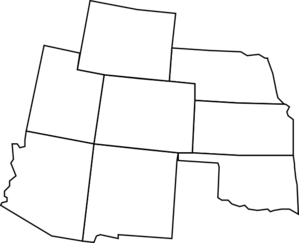 Colorado Map With Surrounding States2 Clip Art at Clker
