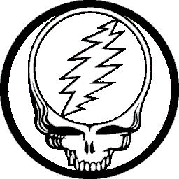 The Grateful Dead Steal Your Face Purple Yellow Button B