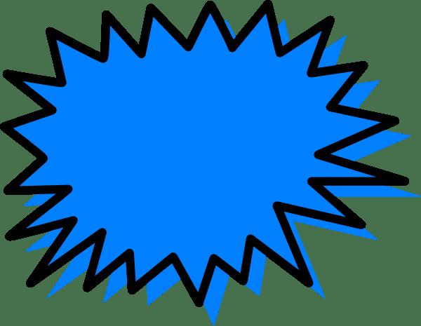 Blue Explosion Clip Art at Clkercom vector clip art