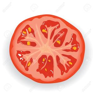 sliced tomato clipart free