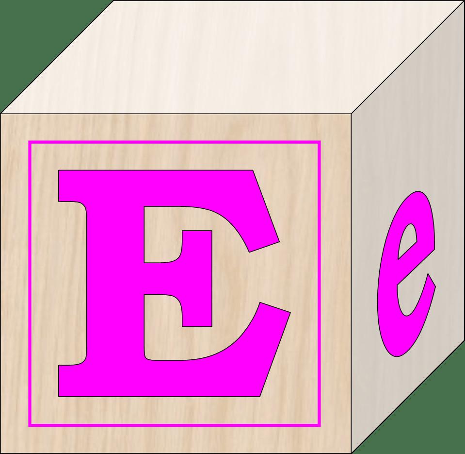Blocks E Free Images At Clker Com Vector Clip Art