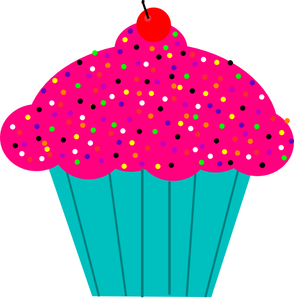 pink animated cupcakes