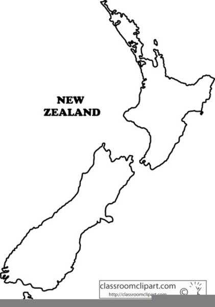 Printable Map New Zealand