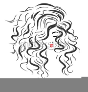 lady with curly hair clipart