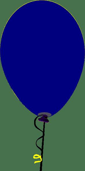 straight flat blue balloon clip