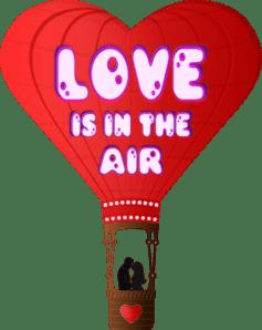 Love Is In The Air Hot Air Balloon Clip Art At