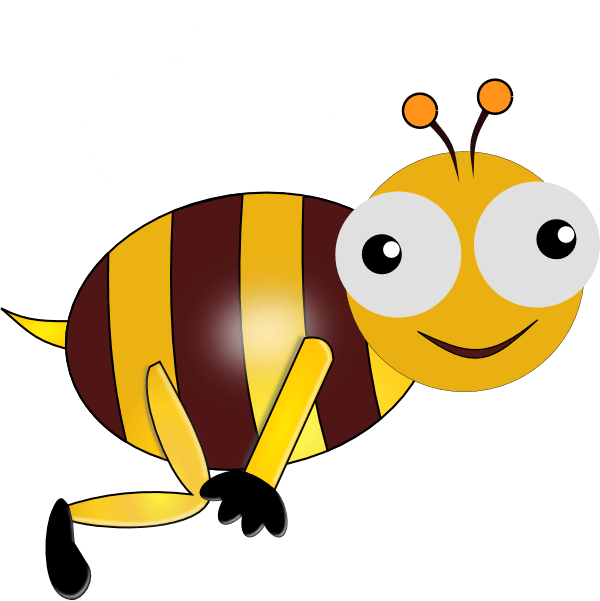 bumble bee smiling clip art