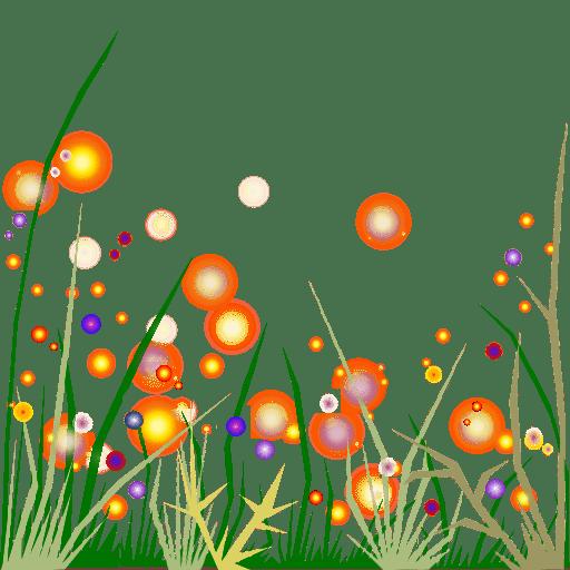 Gras Und Bunte Blumen Gemalt  Free Images at Clkercom