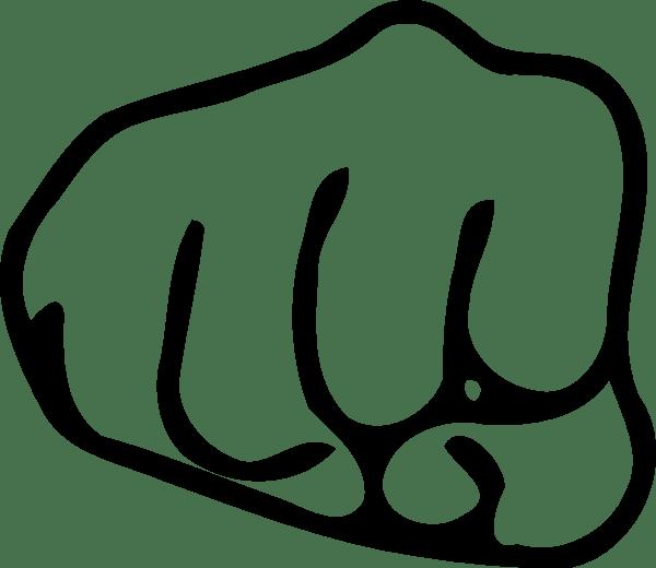 fist clip art - vector