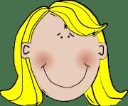 blonde hair clip art